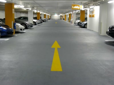 parking garage floor coated by our team
