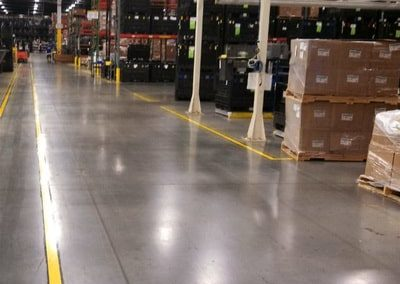 warehouse concrete floor coated by our team