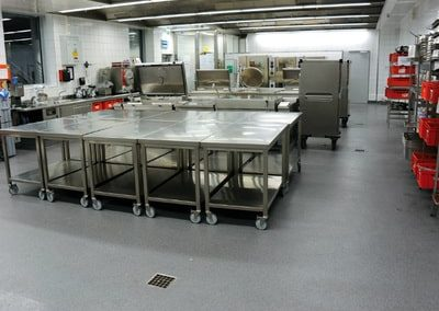 foodservice kitchen floor coated by our team