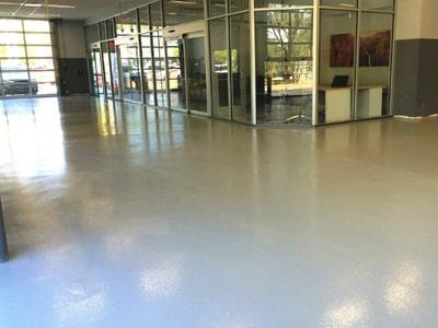 auto service floor epoxy coated