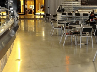 cafeteria floor coated by our team