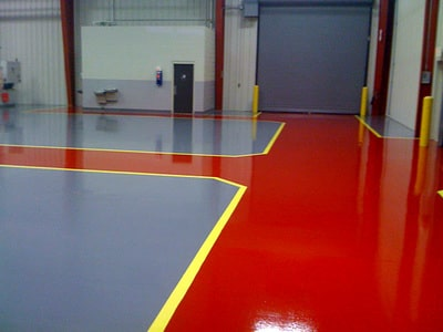sports floor coated by our team